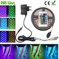 5M waterproof RGB Led Strip Light 3528/2835 DC12V  Flexible Lighting String Ribbon Tape Lamp Home Decoration Lamp Full sets