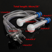 1 Set 66cm Plastic Goat Milking Machine Parts Silicone Milking Liners Goat Milking Unit Mayitr