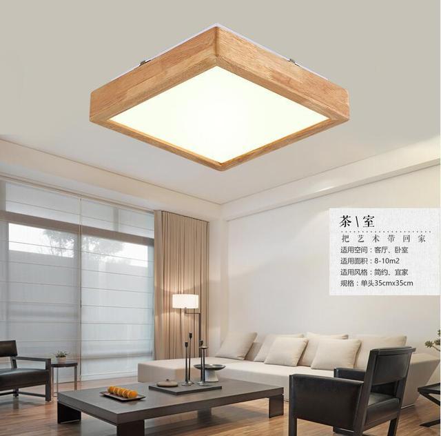 Leuchten Luminaria De Plafonnier Led Moderne Decken Beleuchtung Lampen Holz Anischen Decke Schlafzimmer