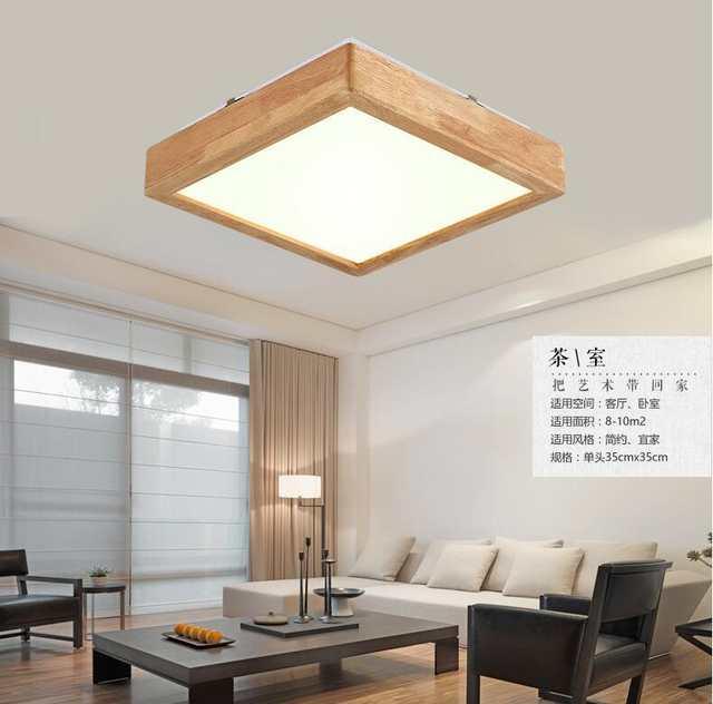 US $49.59 38% OFF|Leuchten Luminaria de plafonnier led moderne Moderne LED  Decken Beleuchtung Lampen Holz Japanischen Decke Lampen Schlafzimmer-in ...