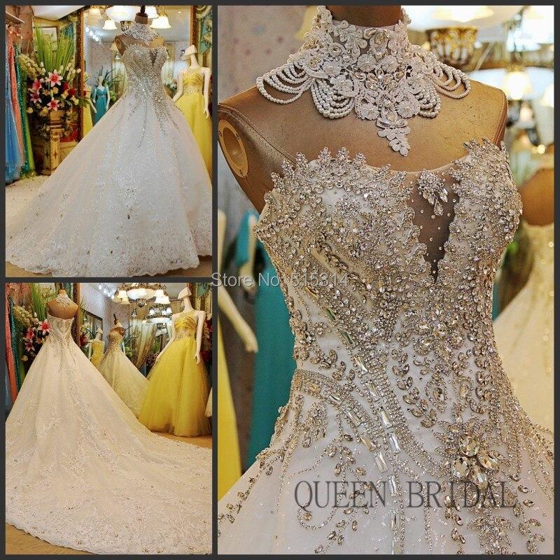 Новое поступление кружево кристаллы алмаз сверкающие bling Свадебные платья Роскошные свадебные платья свадебное платье vestidos BS42