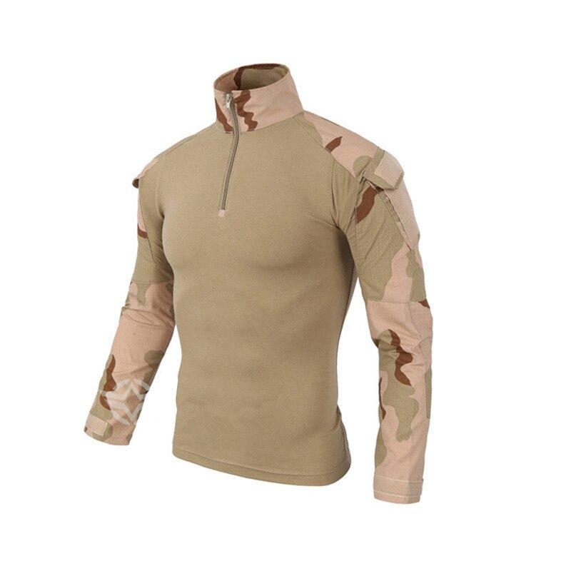 Prix pour Tactique Mâle En Plein Air Grenouille T Chemises Hommes US Army Combat Thicked À Manches Longues T Chemises Tactique Wargame Militaire Hommes Tops T-Shirts
