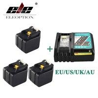 ELEOPTION 3 шт. 6000 мАч 14,4 В литий ионный Батарея для MAKITA BL1430 BL1415 194066 1 194065 3 194559 8 с 6.5A быстрого Зарядное устройство