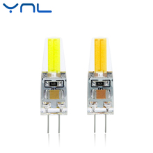YNL 2017 New G4 LED Lamp AC/DC 12V 220V COB LED G4 6W Bulb Dimmable 360 Beam Angle replace Halogen Spotlight Chandelier