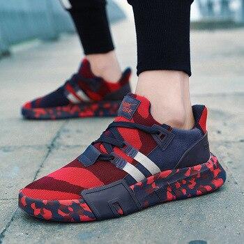 0999adf8b Vulcanize Sapatos Grandes Homens de Tamanho dos homens Outono Inverno  Casual Canvas Sneakers Lace-up Alto Estilo Camuflagem Superficial Homem  sapatos macios