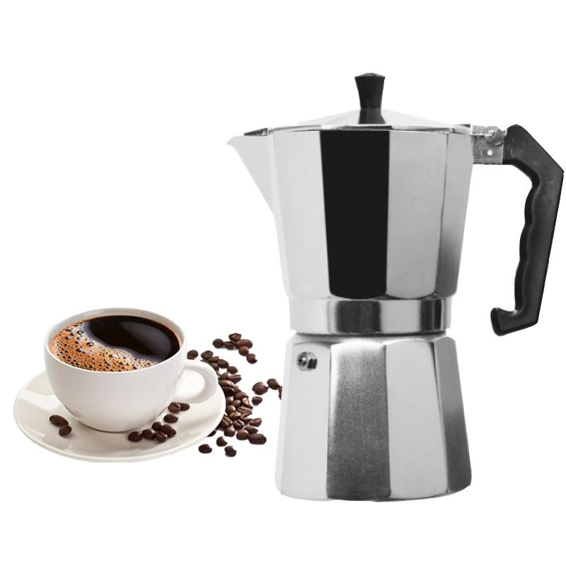 VOCORY Coffee Maker Aluminum Mocha Espresso Percolator Pot Coffee Maker Moka Pot 1cup/3cup/6cup/9cup/12cup Stovetop Coffee Maker