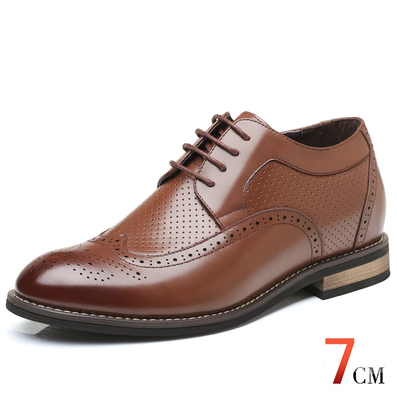 Cheap Price to Sell Mens Heighten Shoes Summer Hollow Breathable Elevator Formal Derby Leather Shoes Height increasing 7 CMCheap Price to Sell Mens Heighten Shoes Summer Hollow Breathable Elevator Formal Derby Leather Shoes Height increasing 7 CM