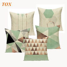 Geometric Tropical Pillow cushion Teal Blue Decorate Modern Turquoise Green decorative covers For Sofa Pillowcase