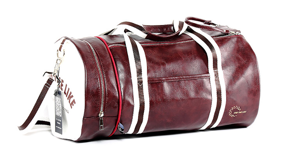 Quality PU Leather Gym Male Bag Top Female Sport Shoe Bag for Women ... 264a6aa4c34e5