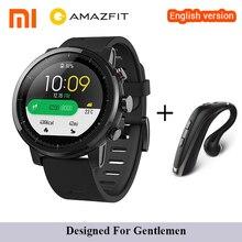 Inglês Original Xiaomi Huami Amazônia Stratos 2 Inteligente Relógio Do Esporte Relógio Com Monitor de Freqüência Cardíaca GPS 5ATM Smartwath À Prova D' Água