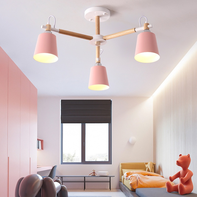 Fashion Colorful Modern Wood Ceiling Lights Lamparas Minimalist Design Shade Luminaire Dining Room Lamp In Pendant From