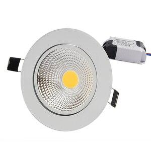 Image 5 - Spot lumineux Led encastrable, éclairage dintérieur, éclairage ultra lumineux, éclairage à intensité réglable, 5/7/9/12W, spot de plafonnier à led COB