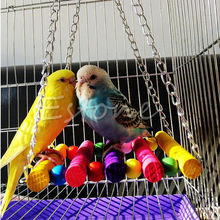 Hot Sale font b Pet b font Bird Parrot Toys Parakeet Budgie Cockatiel Cage Hammock Swing