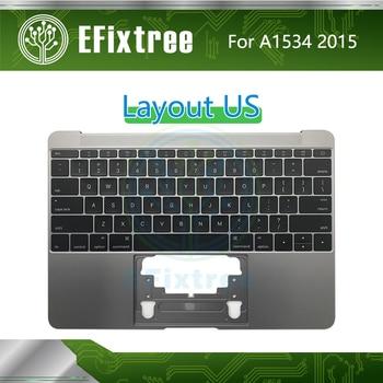 2015 Topcase C Case Housing For Macbook Retina 12 inch A1534 Top Case Plamrest With Keyboard US English Palmrest Backlight