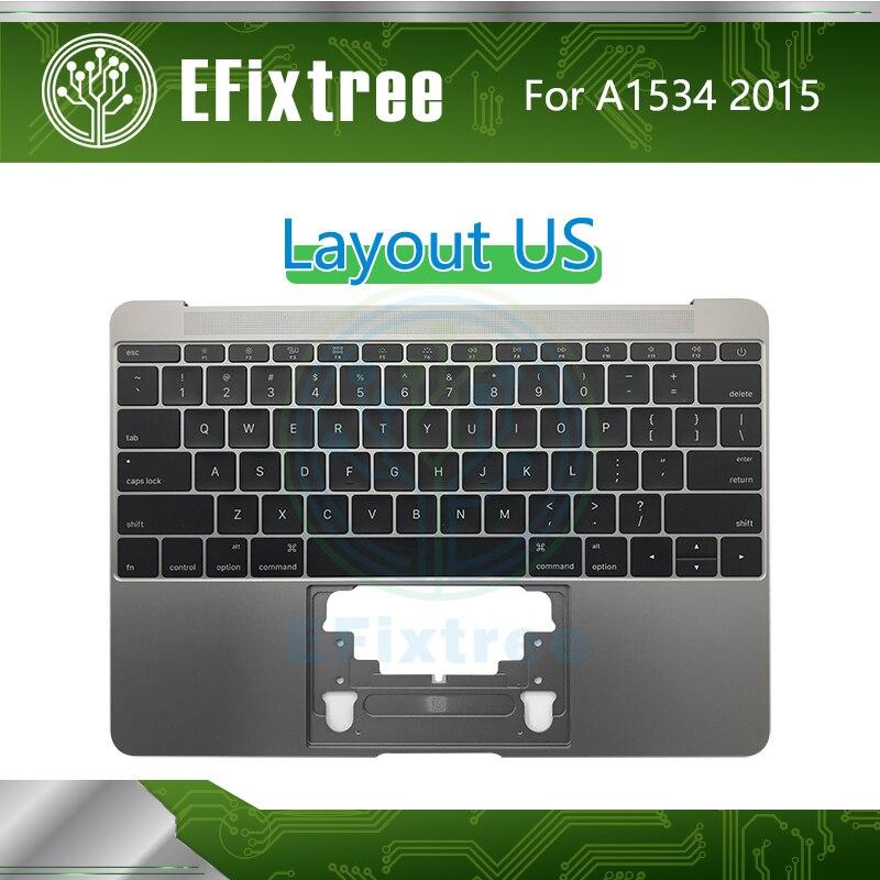 2015 Topcase C boîtier pour Macbook Retina 12 pouces A1534 boîtier supérieur avec clavier US anglais Palmrest rétro-éclairage