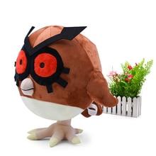 Anime Cartoon Detective Pikachu Hoothoot Plush Peluche Stuffed Dolls kawaii Toy Great Christmas Gift For Children