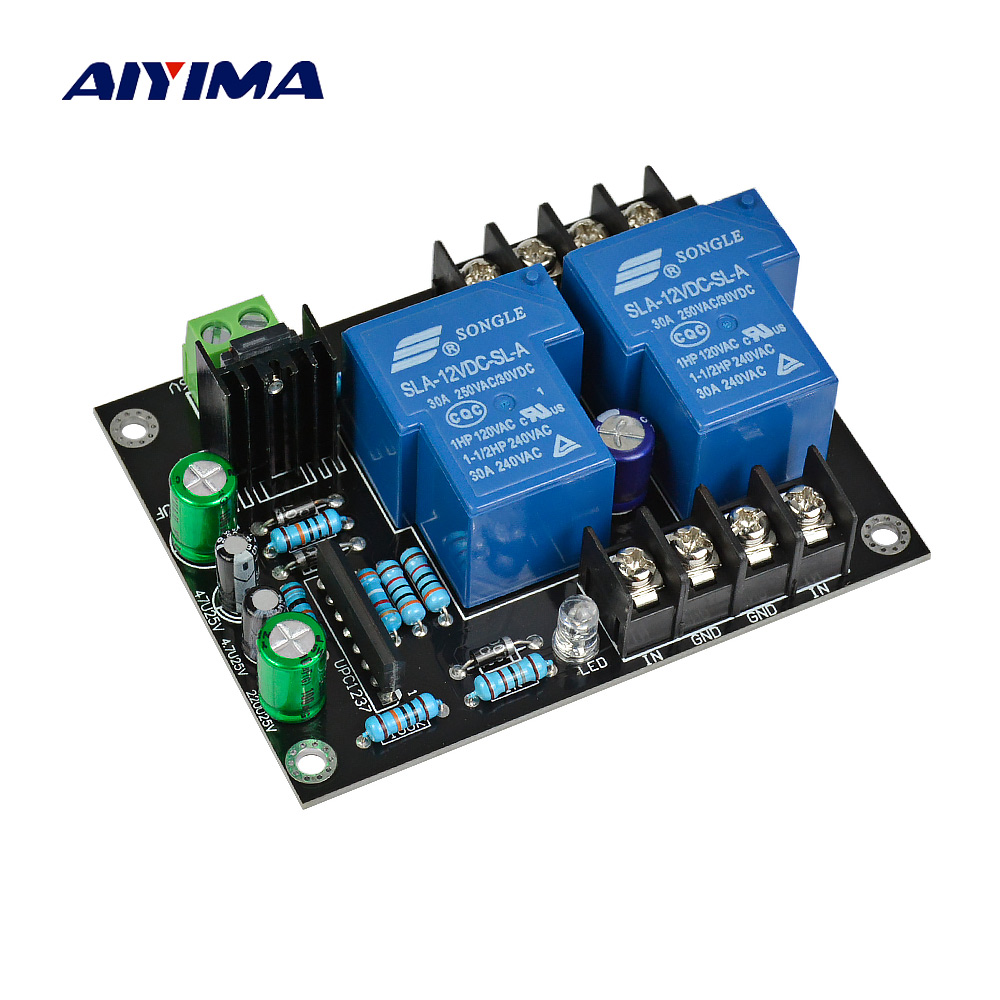 AIYIMA UPC1237 2.0 High Power Speaker Protection Board Kit Parts Reliable Performance 2 Channels For DIY HIFI Amplifier