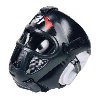 BNPRO Boxing Headguard with Mask Muay Thai Taekwondo Helmet Mask Removable Kickboxing TKD Sparring Sanda Training Headgear