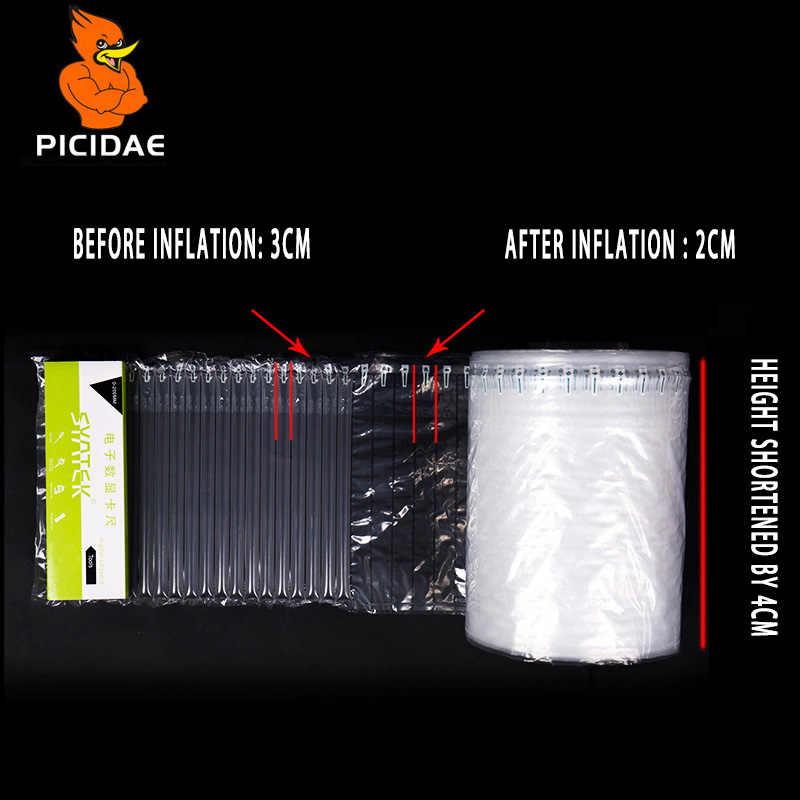 15-110 Cm Air Kolom Inflatable Gelembung Casing Shockproof Logistik Buffer Rapuh Bale Bantal Kemasan Roll Film Perlindungan Mailer