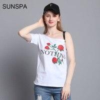 SUNSPA Nothing Letter Print T Shirt Rose Harajuku T Shirt Women 2017 Summer Casual Short Sleeve