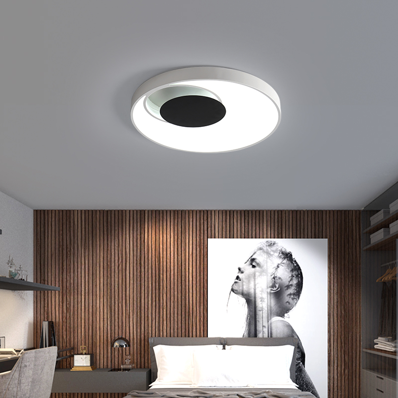 купить Modern Dimmable LED Ceiling Lamp Remote Control Creative Concentric circles Ceiling Light for Living Room Lighting Fixture по цене 5920.54 рублей