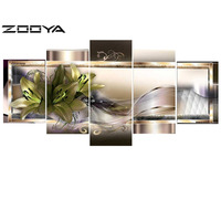 ZOOYA 3d Needlework Diamond Painting Beautiful Flowers Home Decor Diamond Embroidery All Drill Rhinestone Mosaic Pictures