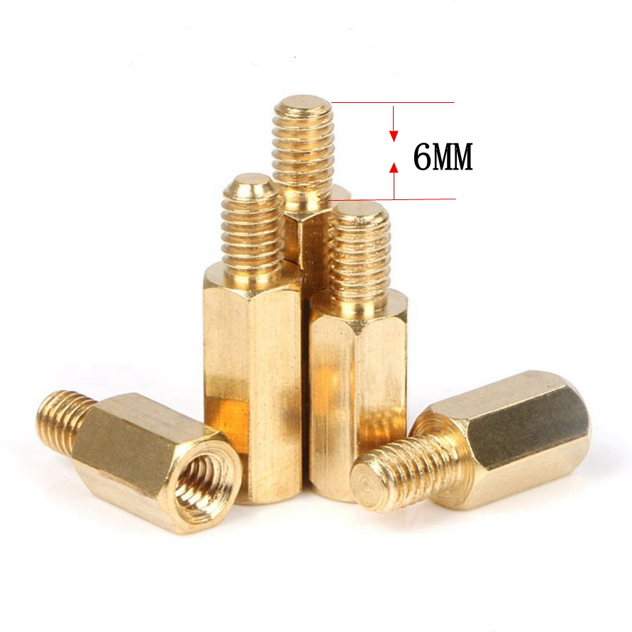 30PCS M3 Copper Brass Pillars Standoff Circuit Spacer PCB Board Nut Screws Hex Round Single Cylinder Head
