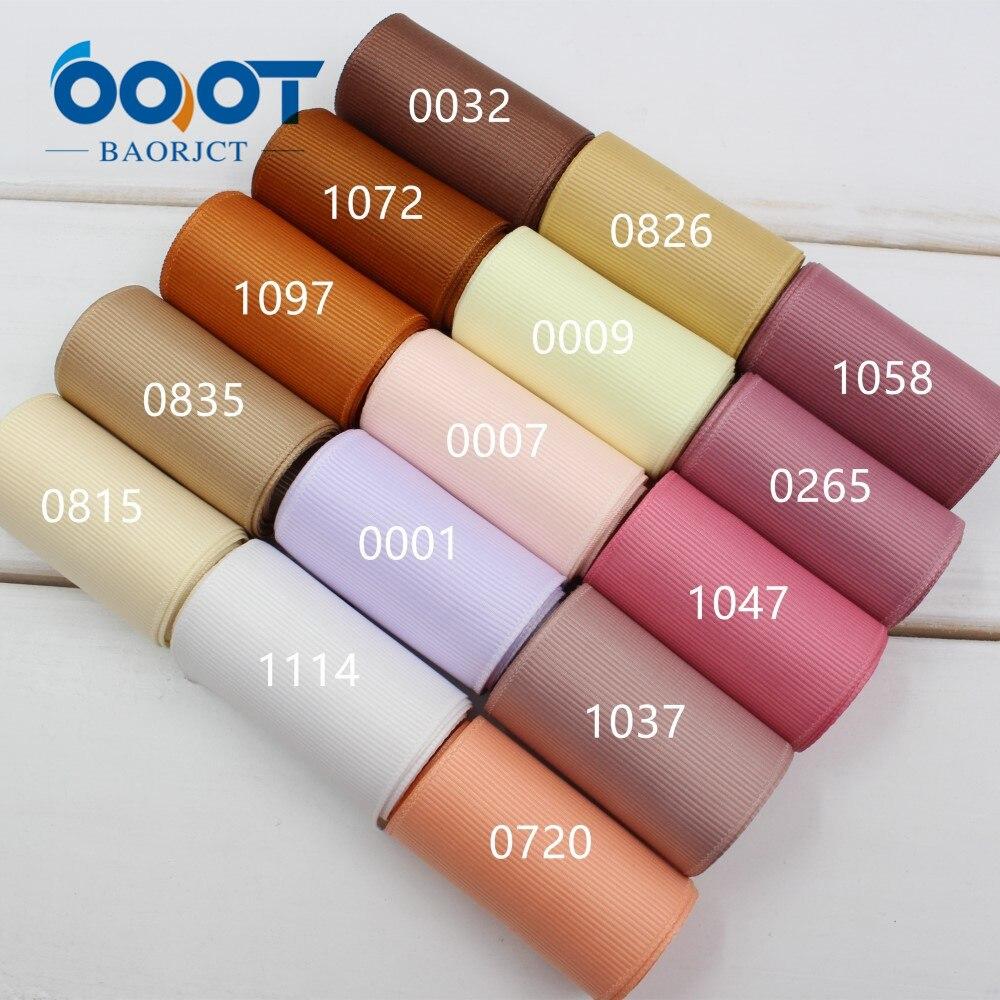 Ooot baorjct 173241 50mm10yard одноцветное Цвет Ленты Термальность передачи печатных Grosgrain Свадебные Аксессуары Сделай Сам материал ручной работы