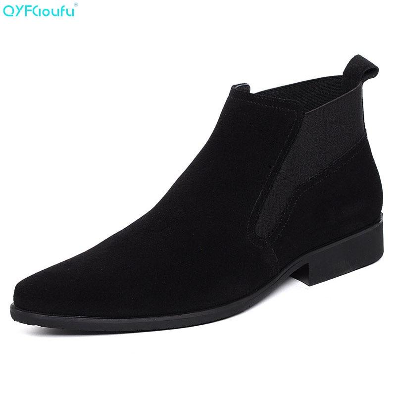 QYFCIOUFU Winter Mens Boots Genuine