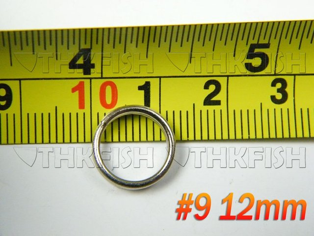 500Pcs #9 Dia:12mm Stainless Steel Split Rings for Blank Lures Crank bait Hard Bait carp Fishing Tools Double Loop