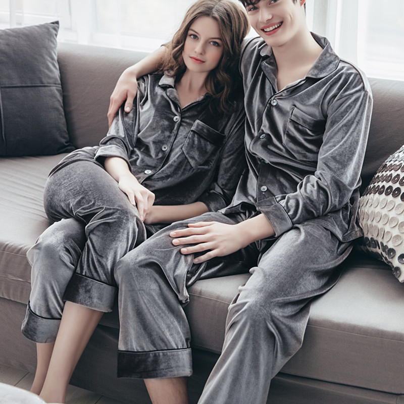 Man and Women 2 PICS High Quality Plush Velvet Fleece Novelty   Pajama     Set   Winter Thicken Striped Coral Princess Royal Lovers