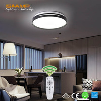 ISRAMP Lightweight LED Ceiling Light 24W/48W Adjustable Three Colors Brand Quality Ceiling LED Lamp Lighting Remote Control