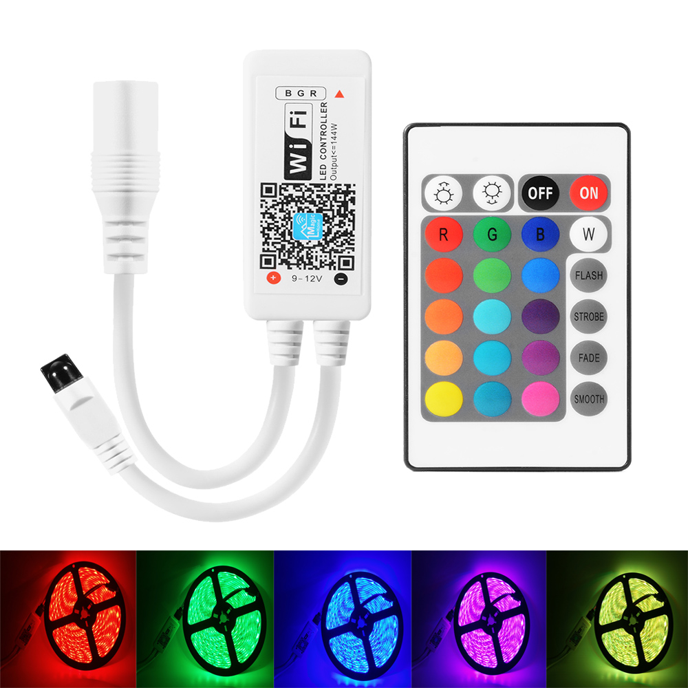 mini led wifi controller rgb strip andriod iphone app control music time mode with 24 key
