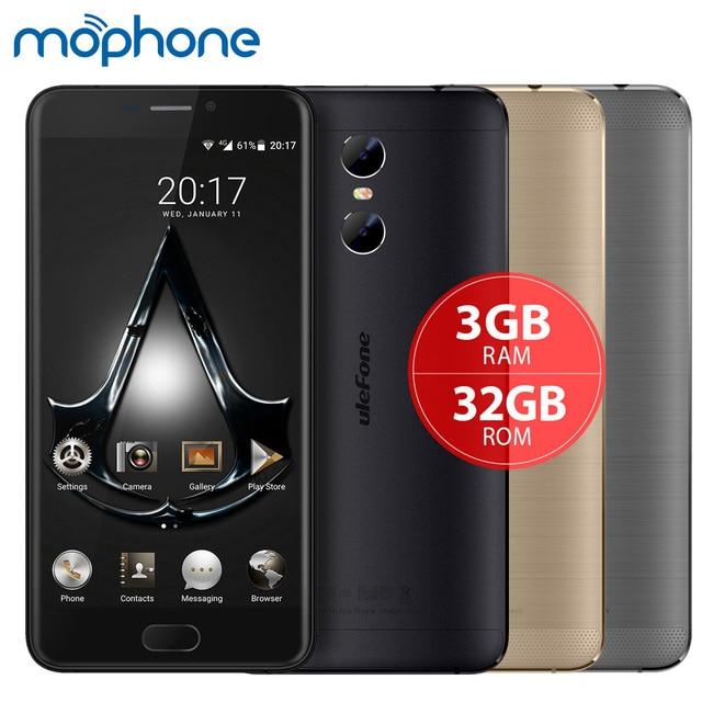 "Ulefone Близнецы 4 г смартфон MTK6737T 4 ядра 5.5 ""1920*1080 P Android 6.0 3 ГБ + 32 ГБ двойной задней камерами 3250 мАч мобильного телефона"