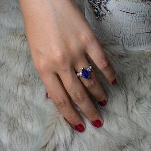 Image 5 - PANSYSEN Luxus Moissanite Verlobung Ringe für Frauen Neue Design Mariquesa Schneiden 925 Sterling Silber Schmuck Ring Edlen Schmuck