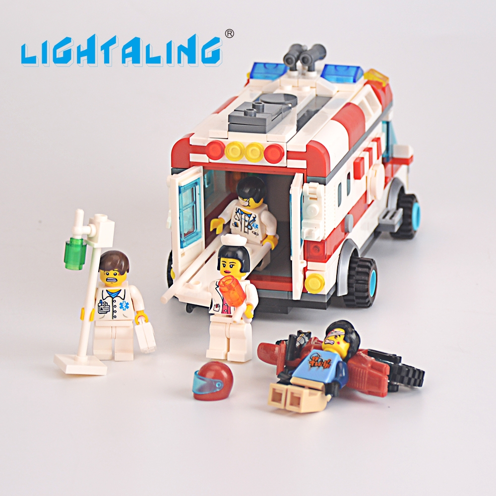 Lightaling Mini Ambulance Nurse Doctor Toys Figure Building Blocks Toys Kids Christmas G ...