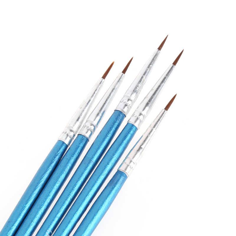 5 piezas excelente calidad cepillo de pelo de nailon línea de gancho lápiz artista acuarela pintura acrílica dibujo lápiz pincel de nailon cepillo
