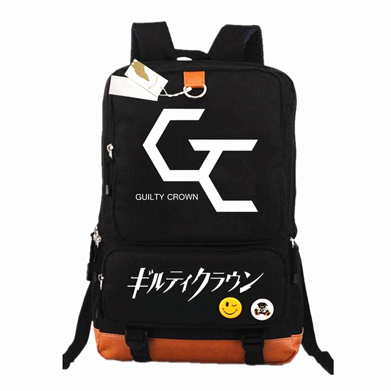 Anime Guilty Crown GC Backpacks Men Cartoon Backpack School Bags Laptop Bag Students Notebook Package Travel Rucksacks Mochilas
