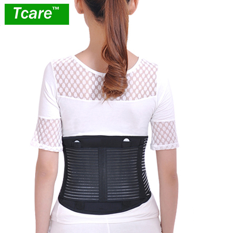 Tcare Adjustable Double Pull Lumbar Brace / Lower Back Belt, Pain Relief, Breathable Material - Waist Back Support tourmaline adjustable self heating lower pain relief magnetic therapy back waist support lumbar brace belt double pull strap