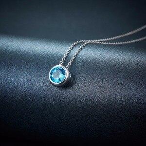 Image 4 - Hutang 1.65ct כחול טופז נשים של תליון, מוצק 925 כסף סטרלינג שרשרת טבעי חן אלגנטי תכשיטי עבור מתנה חדש