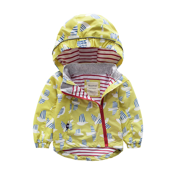 M65 Spring Autumn Fashion lovely Birdie Boys Girl Coat Hoodie Child Jacket Girl Tops Windbreaker Thin Coat Child Thin Jacket