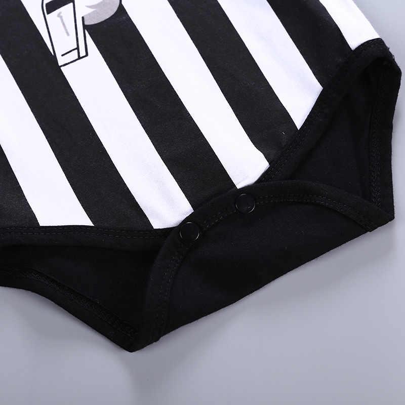 Quần áo bé sơ sinh Bộ cotton trọng tài bóng đá 3 ngộ nghĩnh bodysuit Vớ cho trẻ sơ sinh bé trai bé gái áo liền quần mùa hè quần áo 0- 18M