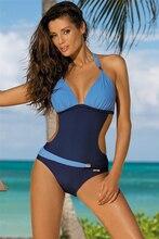 Горячие Одна деталь купальник пляжная одежда пикантные Лоскутные купальный костюм для женщин; Большие размеры купальники XXXL бикини Женская одежда