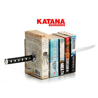 1Pair Samurai sword Magnetic Creative Metal Katana Shaped Bookend Magnetic Desk Organizer for School Stationery Decoration Ninja
