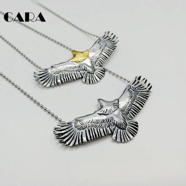 Cara new 2 tone indian mens chic flying eagle pendant necklace cara new 2 tone indian mens chic flying eagle pendant necklace fashion 316l stainless steel 3d aloadofball Choice Image