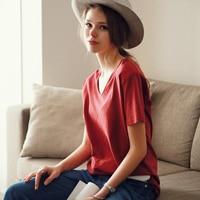 2017 clothes for women camisas femininas t-shirts tee shirt femme poleras de mujer female solid o-neck sleeve short  T-shirt