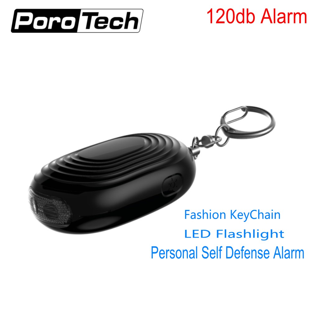 Wholesale 2018 Newest Mini LED Flashlight Personal Alarm Keychain Emergency Self Defense Alarm For Women Kids As A Car Key Chain
