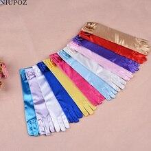 Тонкие эластичные детские профессиональные танцевальные перчатки длинные кружевные аксессуары галстук-бабочка перчатки для девочек принцесса перчатки подарок для детей G195
