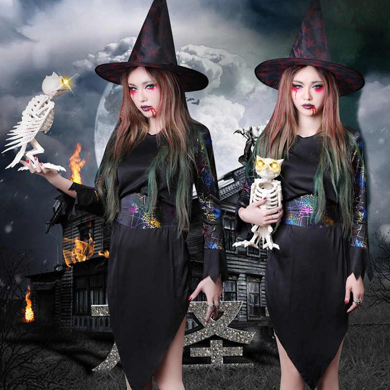 ハロウィーン大人の女性衣装コスプレ魔女ドレス吸血鬼吸血鬼の服黒帽子