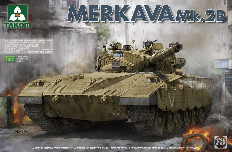 Char de bataille principal Takom 1/35 Merkava Mk IIChar de bataille principal Takom 1/35 Merkava Mk II